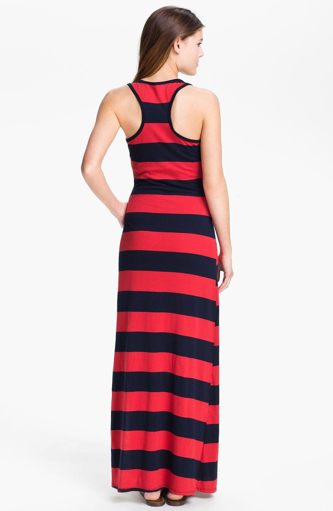 Alternate Image 2  - Everleigh Stripe Racerback Maxi Dress