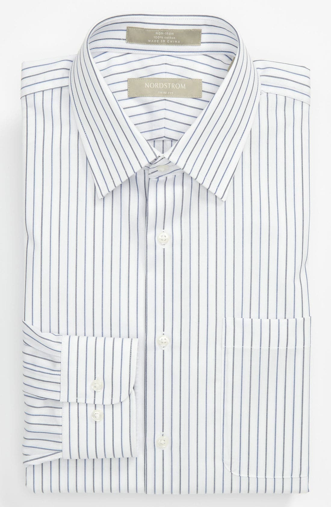Main Image - Nordstrom Trim Fit Non-Iron Dress Shirt (Online Only)