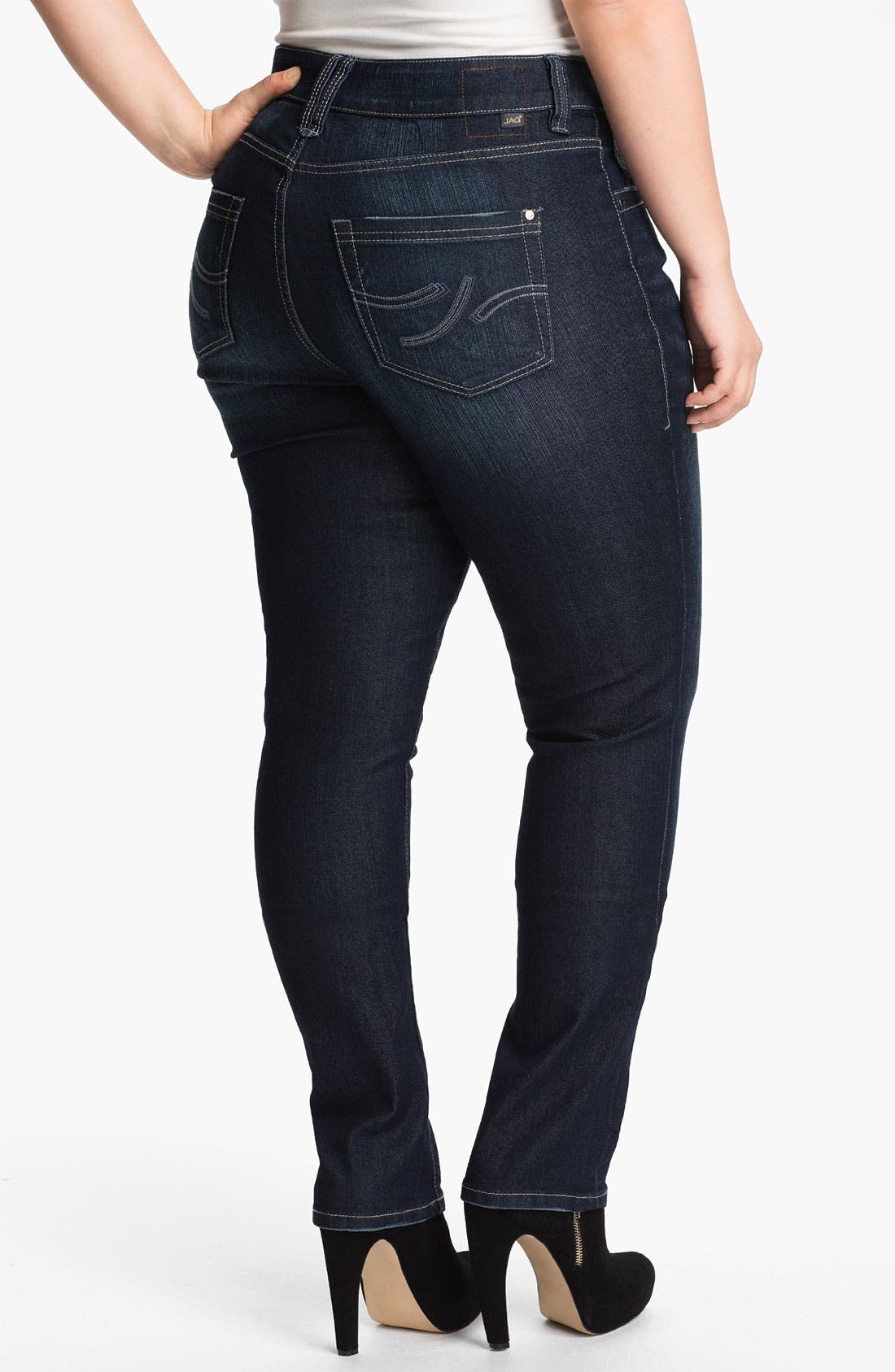 Alternate Image 2  - Jag Jeans 'Bevin' Slim Stretch Jeans (Plus Size)