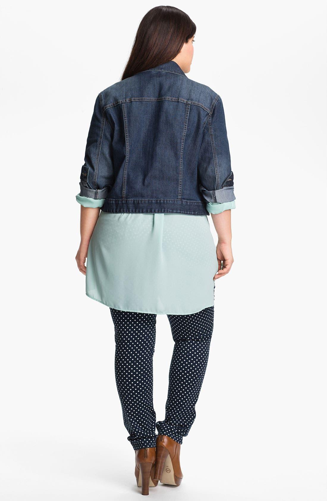 Alternate Image 5  - Jag Jeans Polka Dot Slim Ankle Jeans (Plus Size)