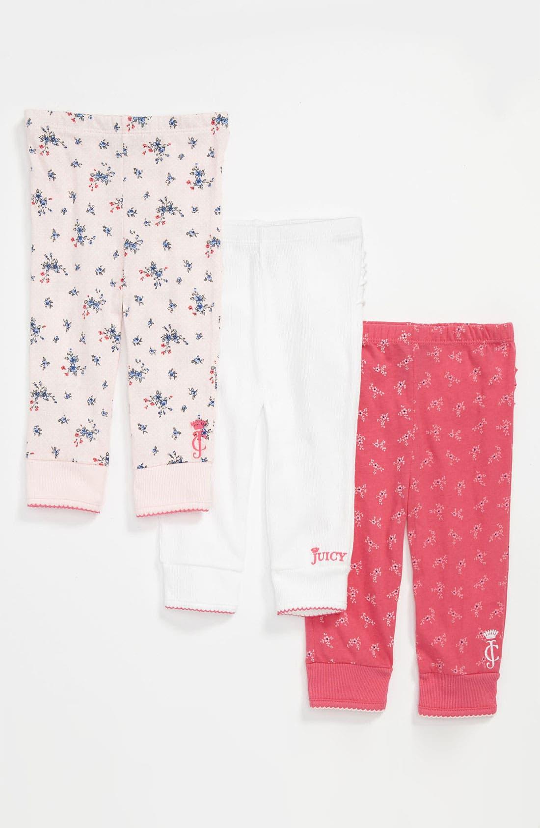 Main Image - Juicy Couture Leggings (3-Pack) (Baby)