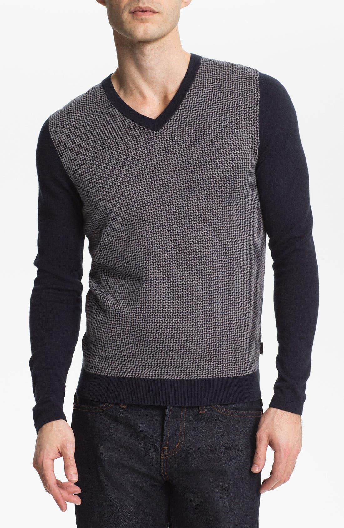 Main Image - BOSS Black 'Garvin' Trim Fit V-Neck Sweater