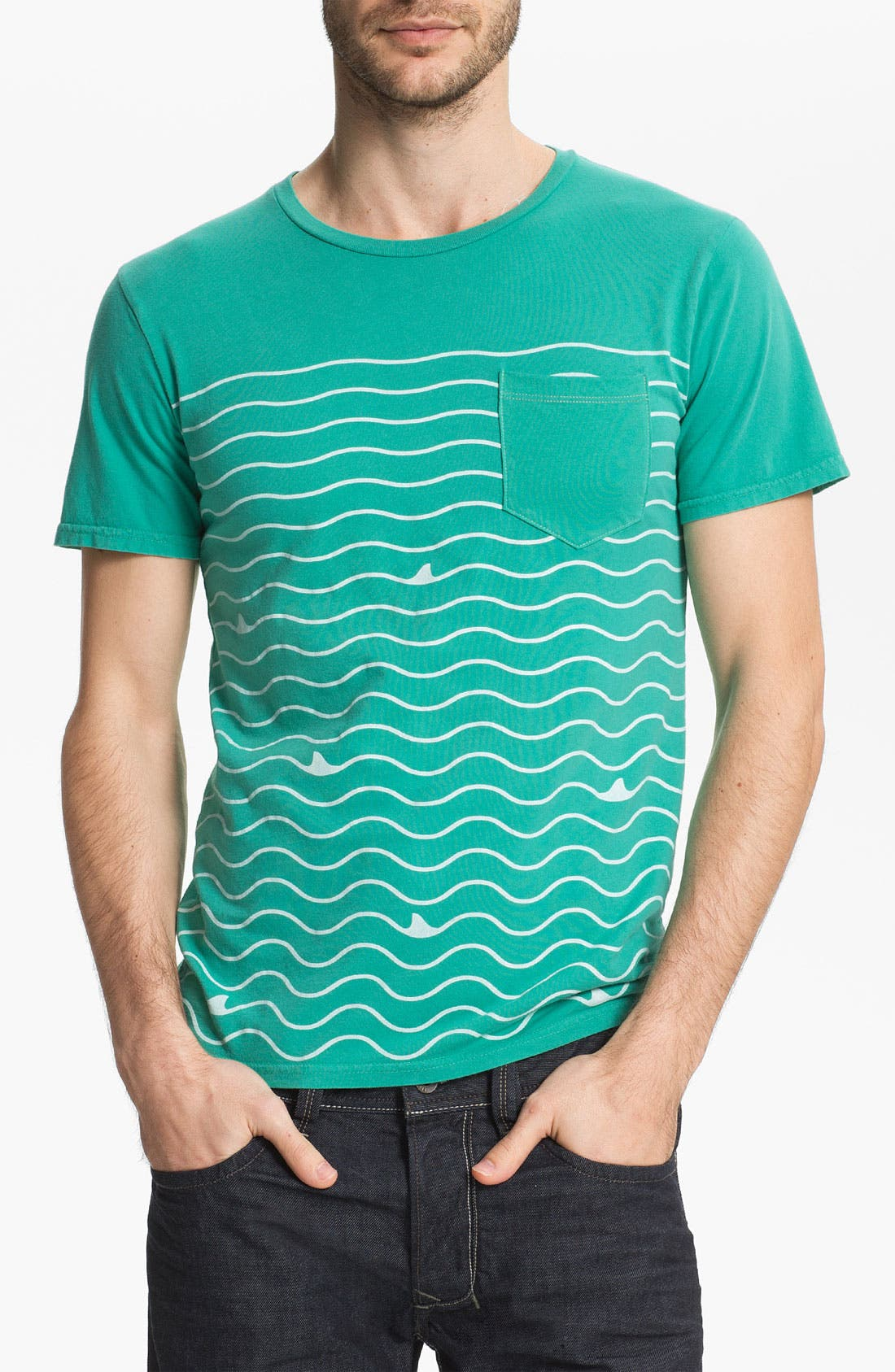 Alternate Image 1 Selected - Altru 'Shark Lines' Pocket T-Shirt