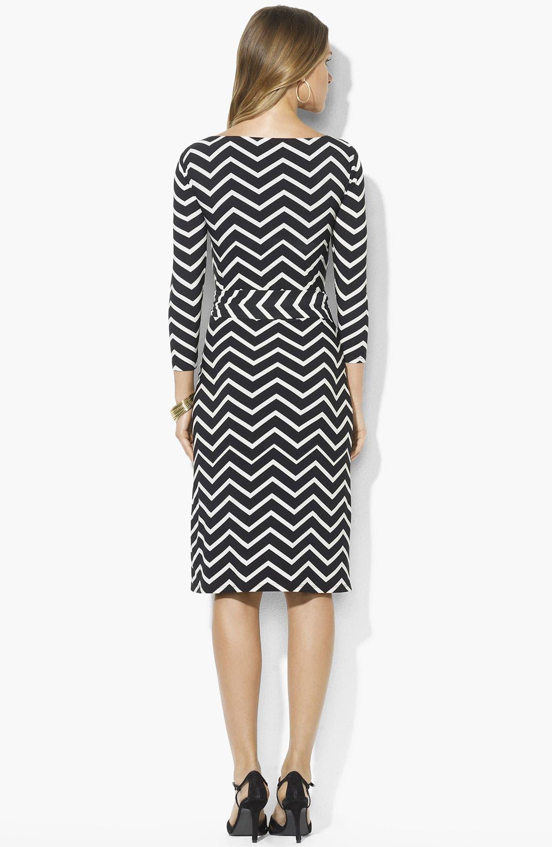 Alternate Image 2  - Lauren Ralph Lauren Contoured Stripe Sheath Dress