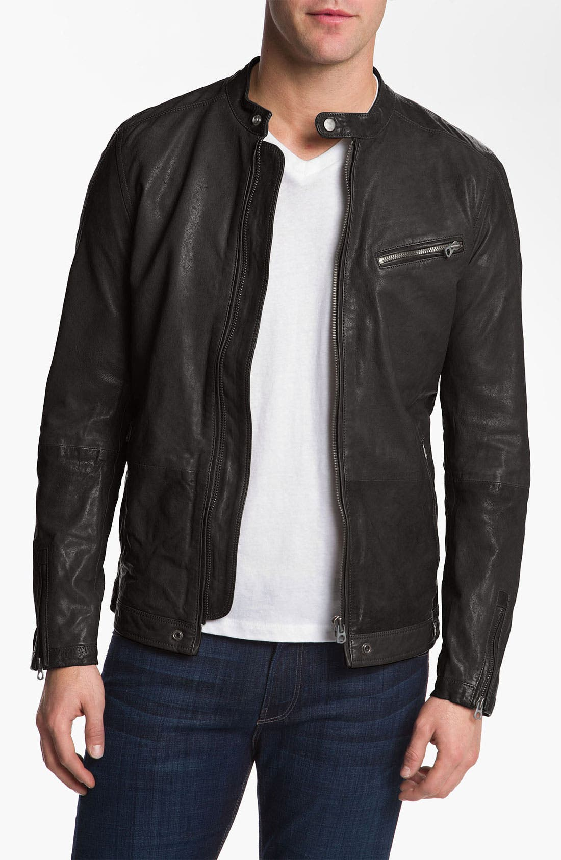 Alternate Image 1 Selected - DIESEL® 'Losheka' Leather Moto Jacket