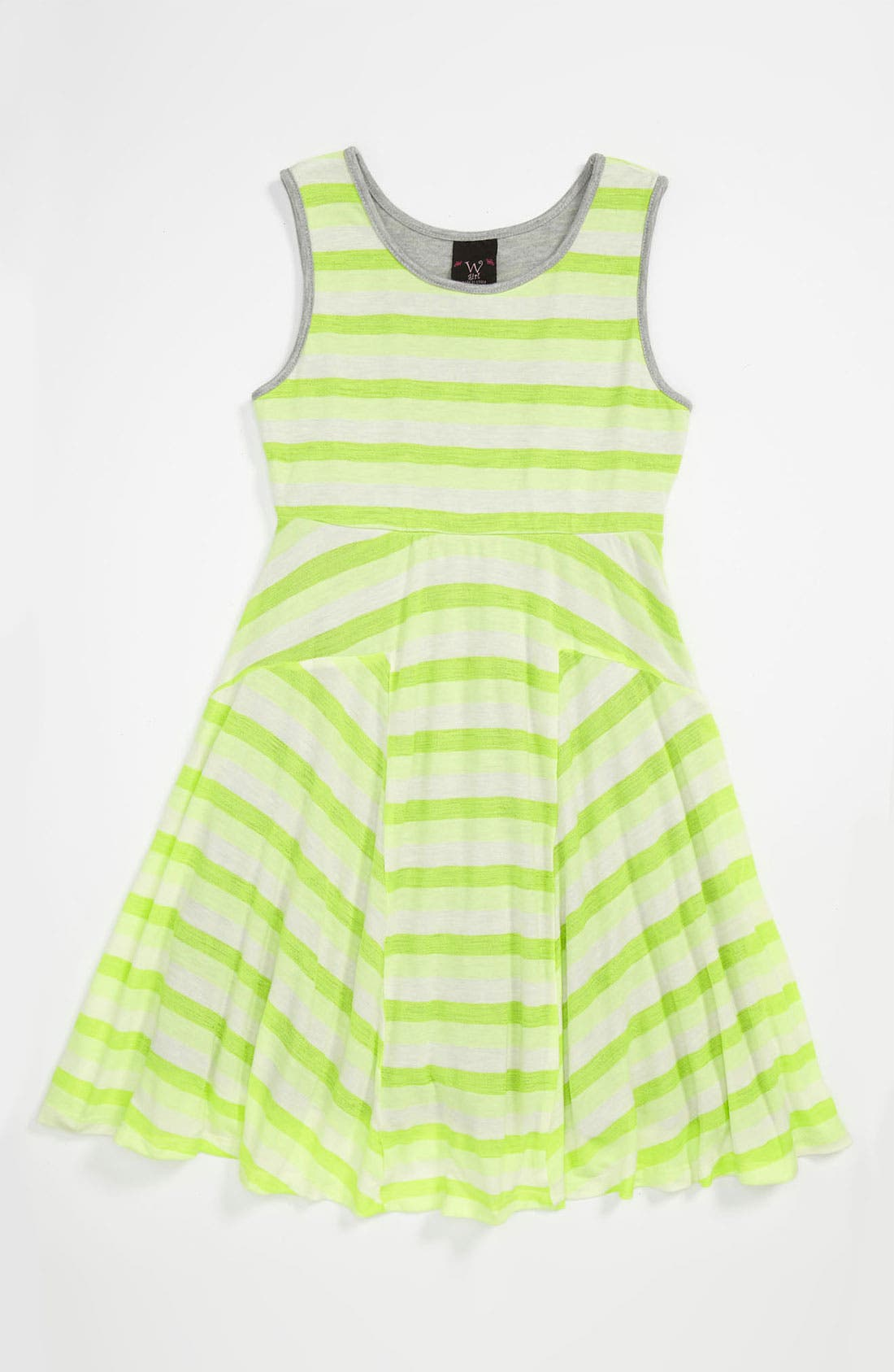 Alternate Image 1 Selected - W Girl Stripe Tank Dress (Little Girls & Big Girls)