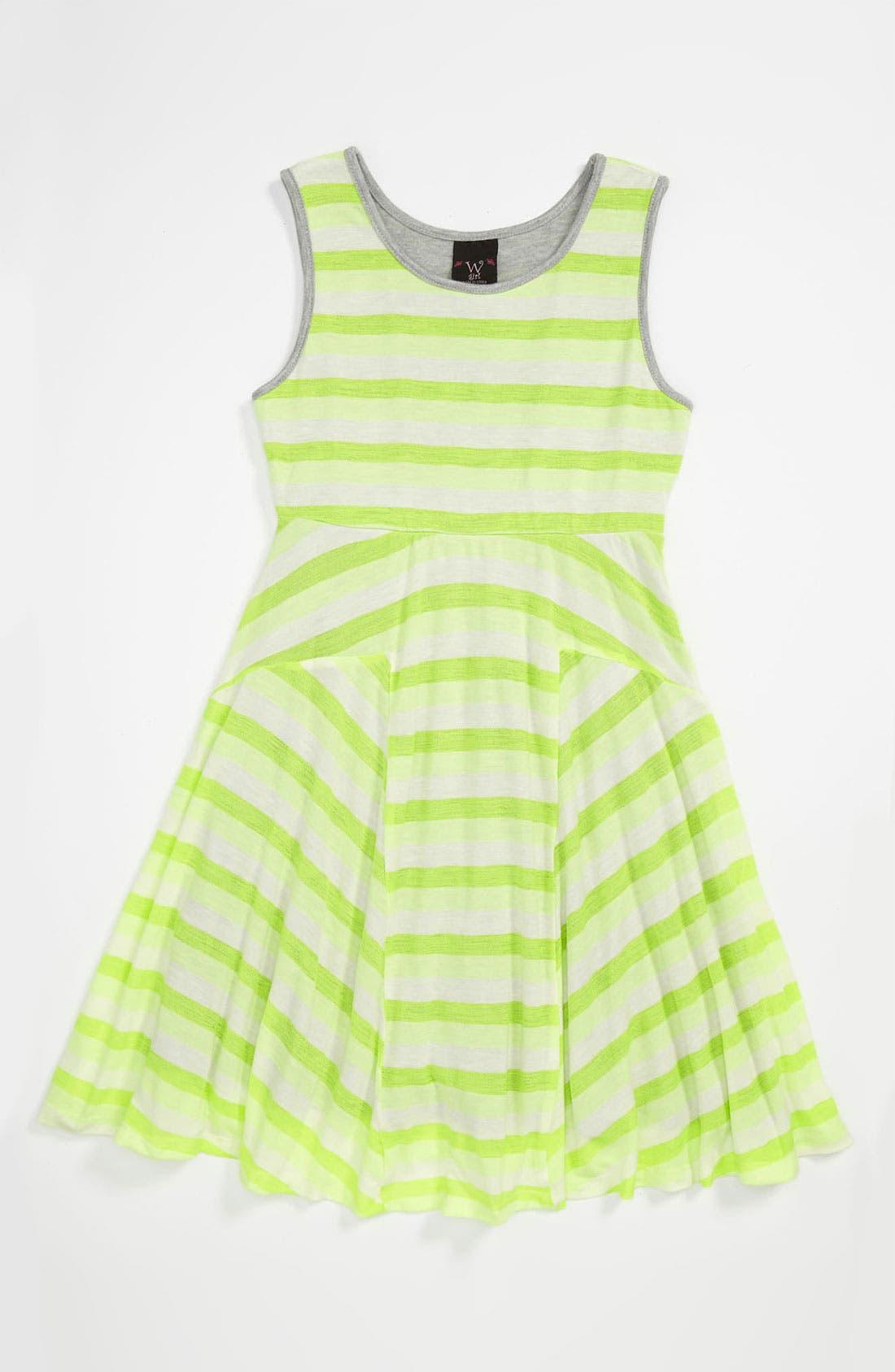 Main Image - W Girl Stripe Tank Dress (Little Girls & Big Girls)