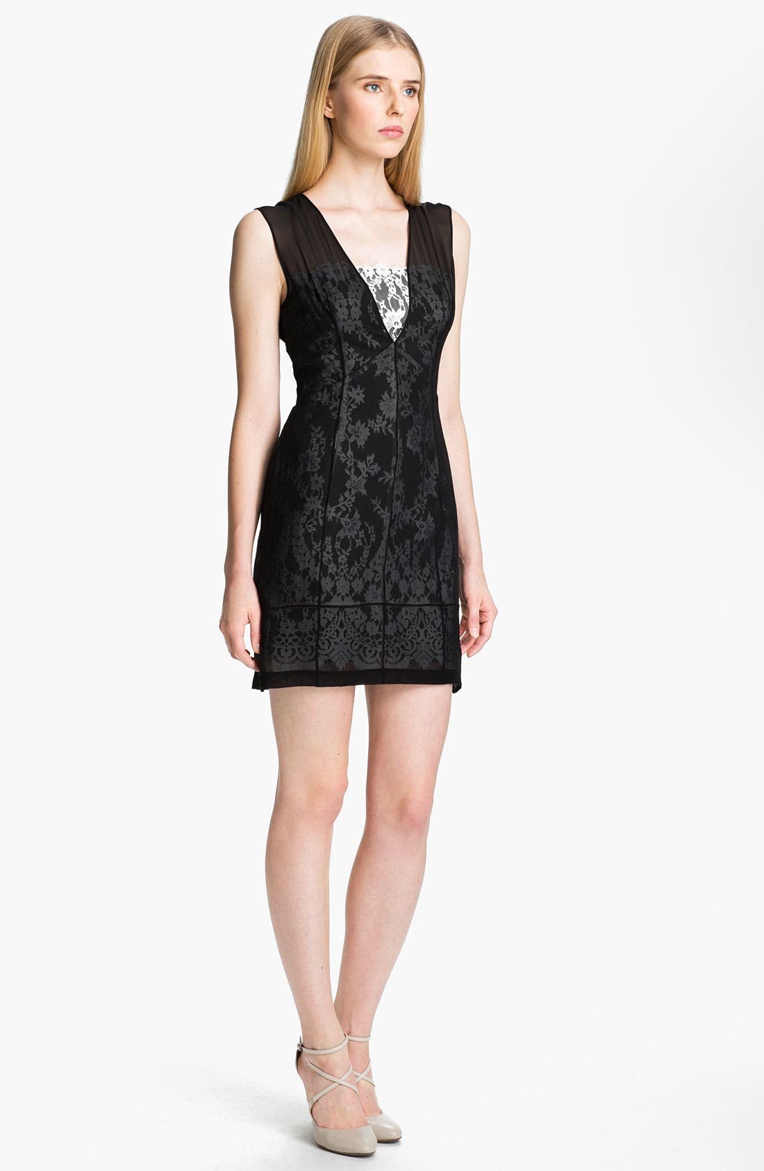 Main Image - Robert Rodriguez Illusion Lace Dress