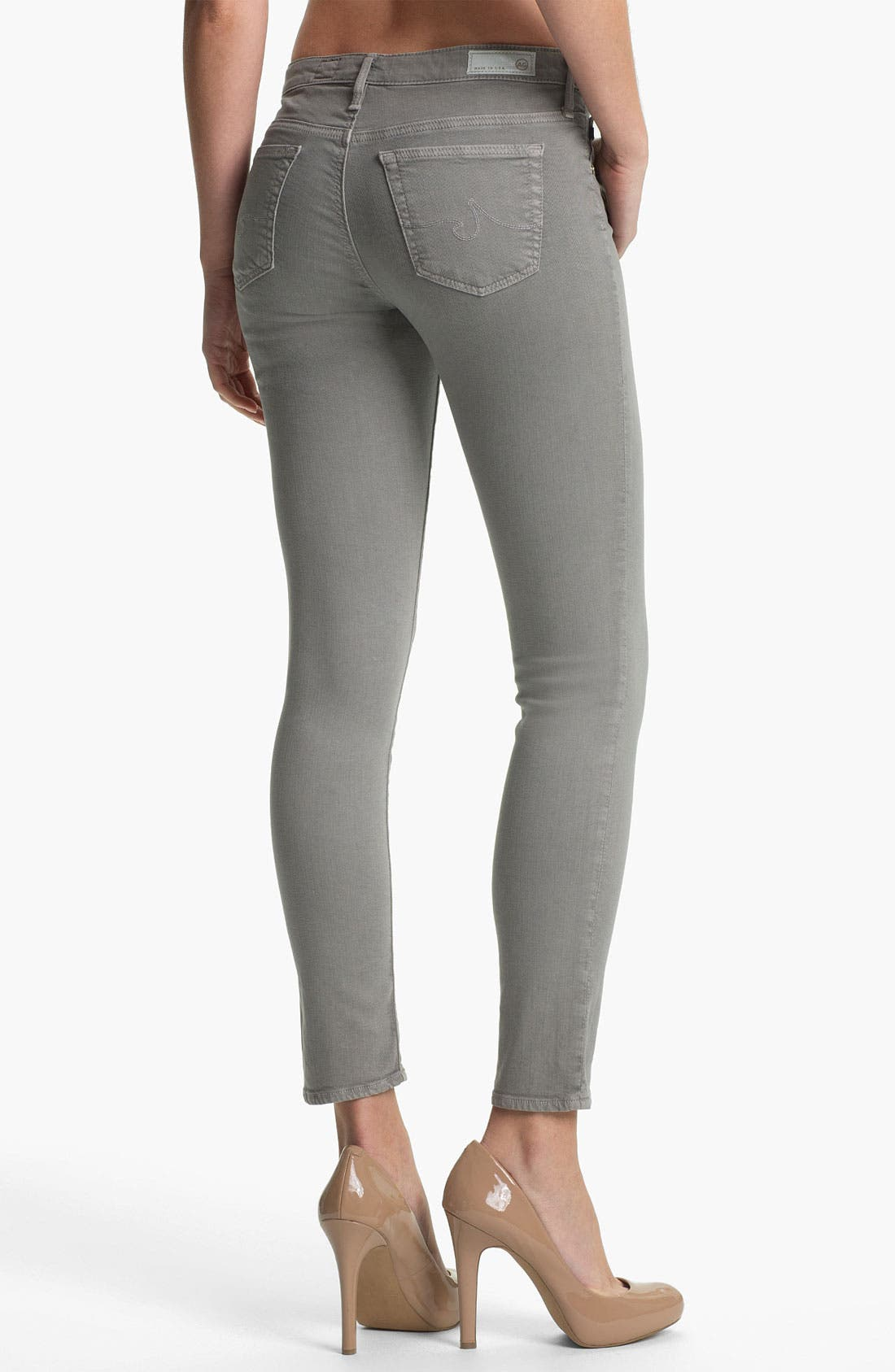 Alternate Image 2  - AG Denim Leggings (Grey)