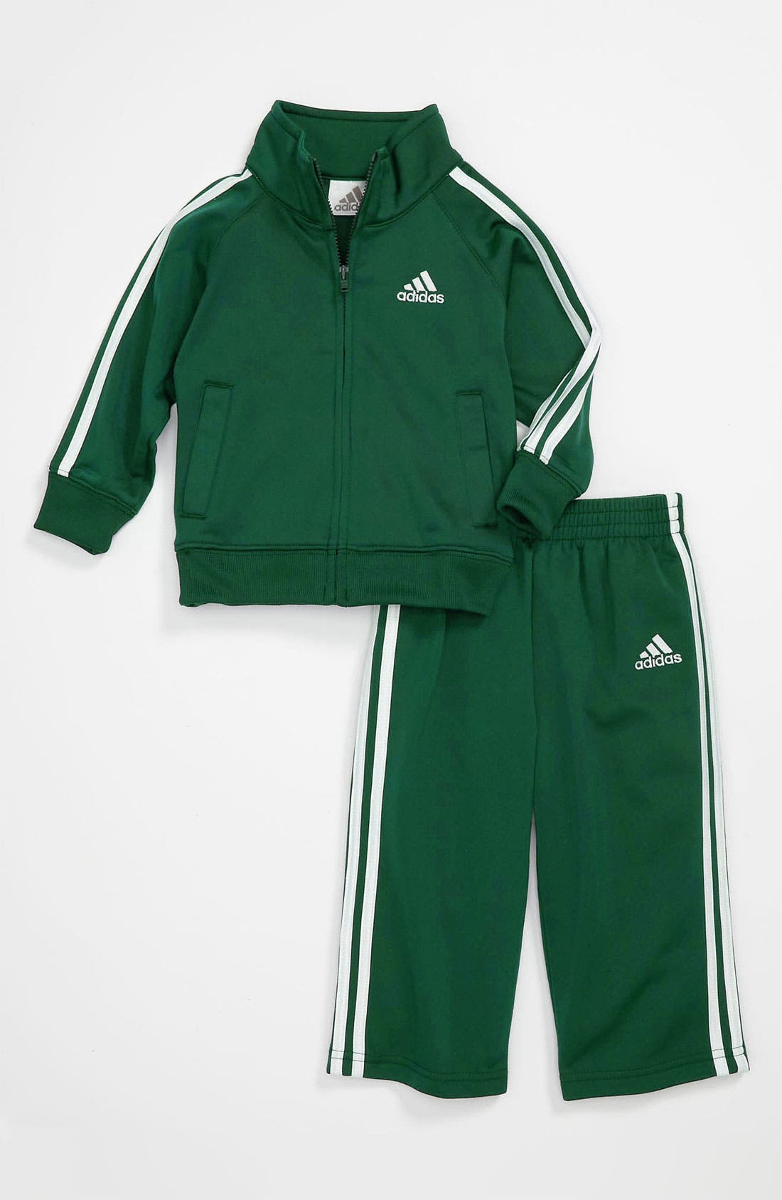Alternate Image 1 Selected - adidas 'Icon Tricot' Jacket & Pants (Infant)
