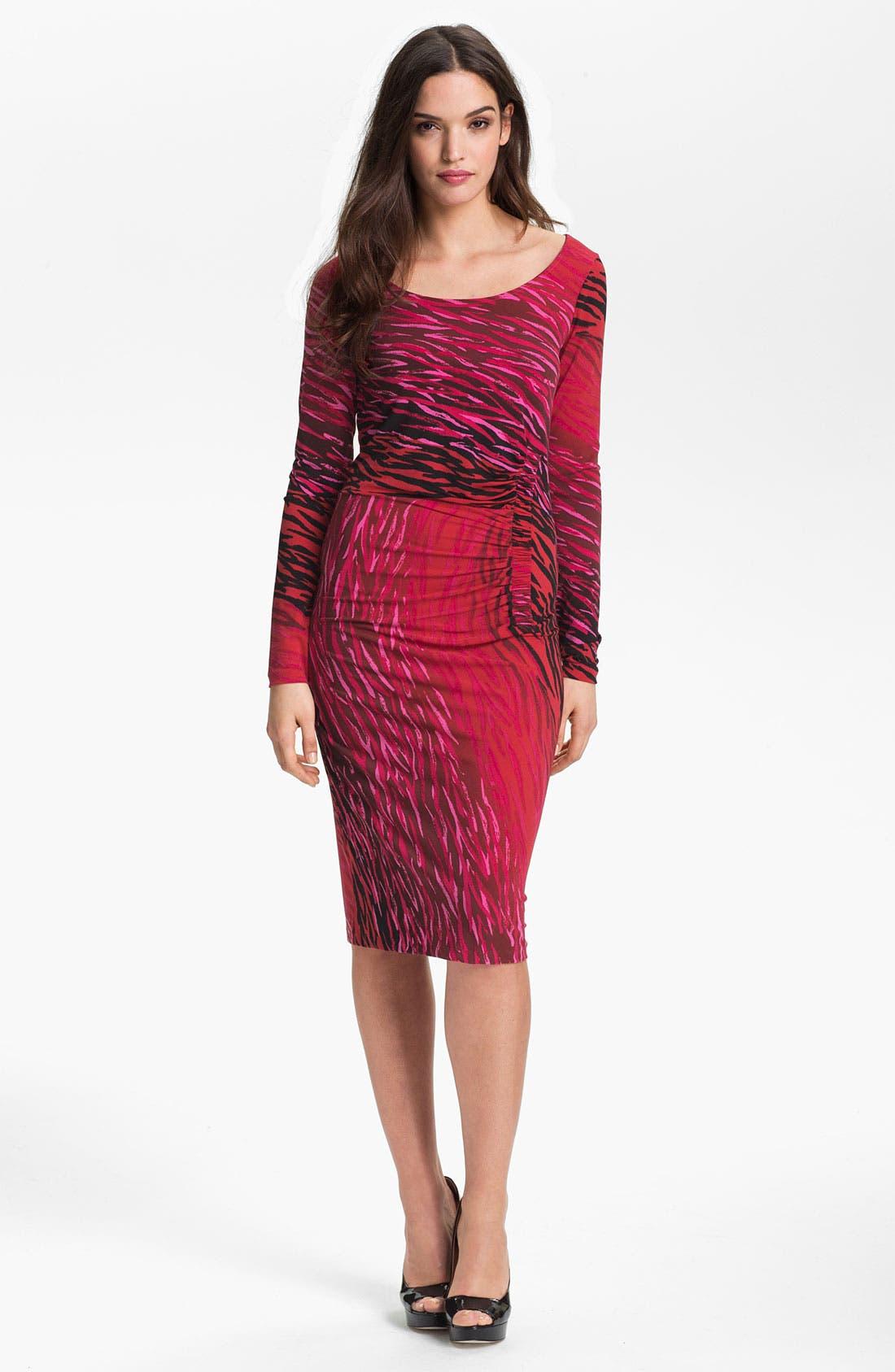 Alternate Image 1 Selected - Anne Klein Ombré Zebra Print Dress
