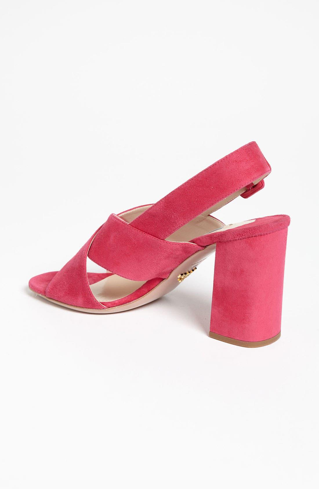 Alternate Image 2  - Prada Crisscross Slingback Sandal
