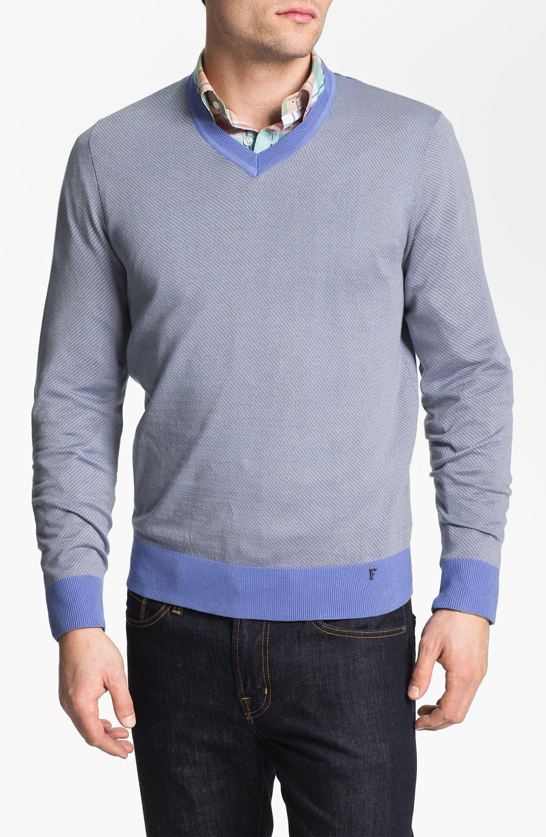 Alternate Image 1 Selected - Façonnable V-Neck Sweater
