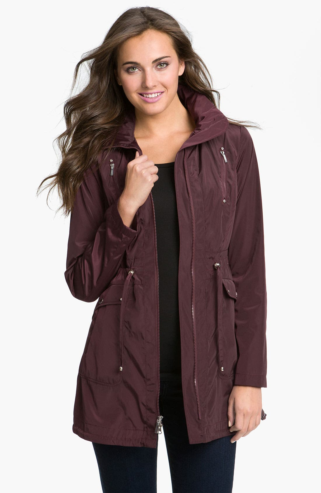 Alternate Image 1 Selected - Laundry by Shelli Segal Packable Hooded Anorak (Petite)