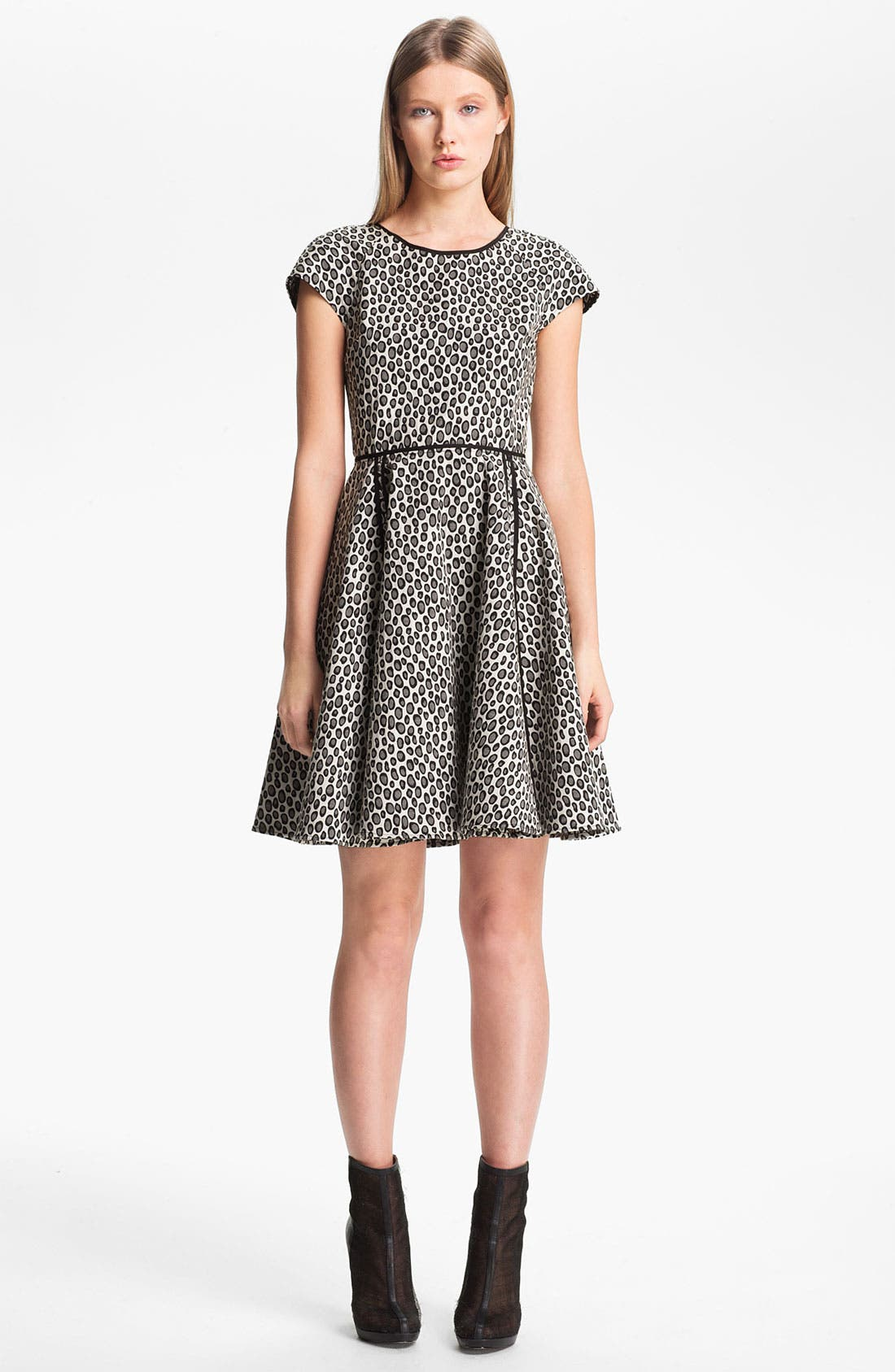 Main Image - Rachel Zoe 'Iryna' Print Flare Dress