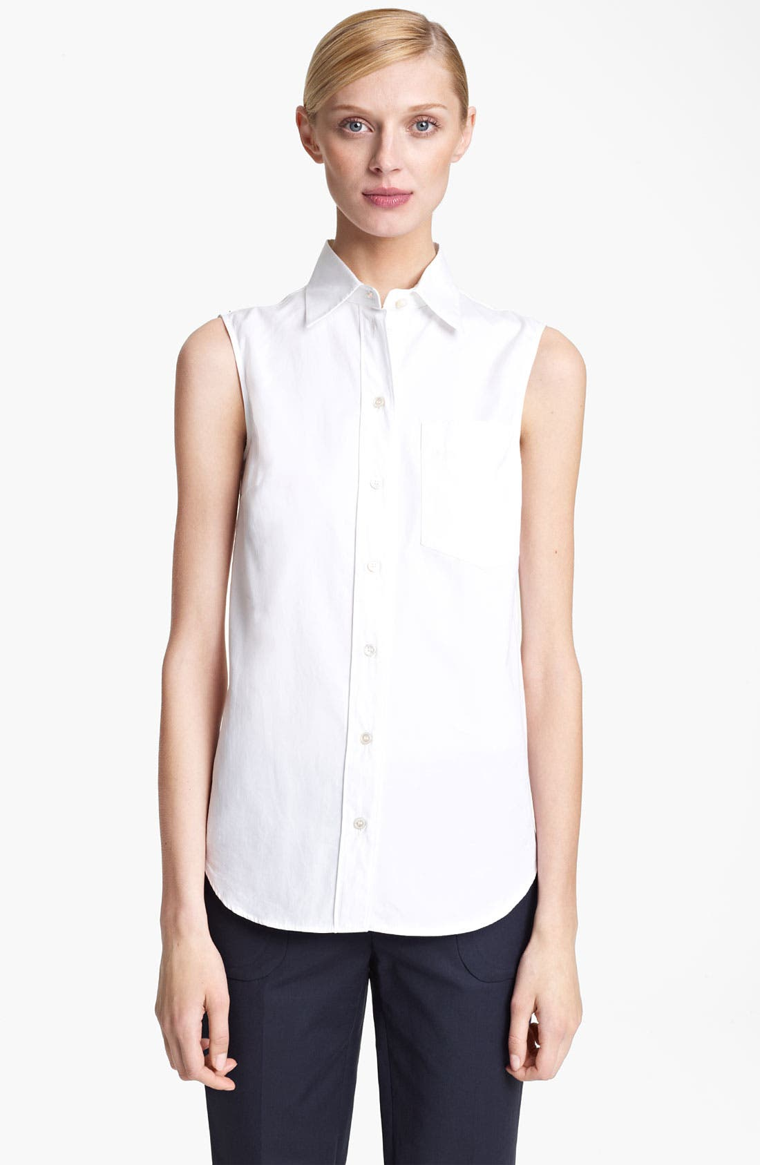 Main Image - Michael Kors Sleeveless Poplin Top