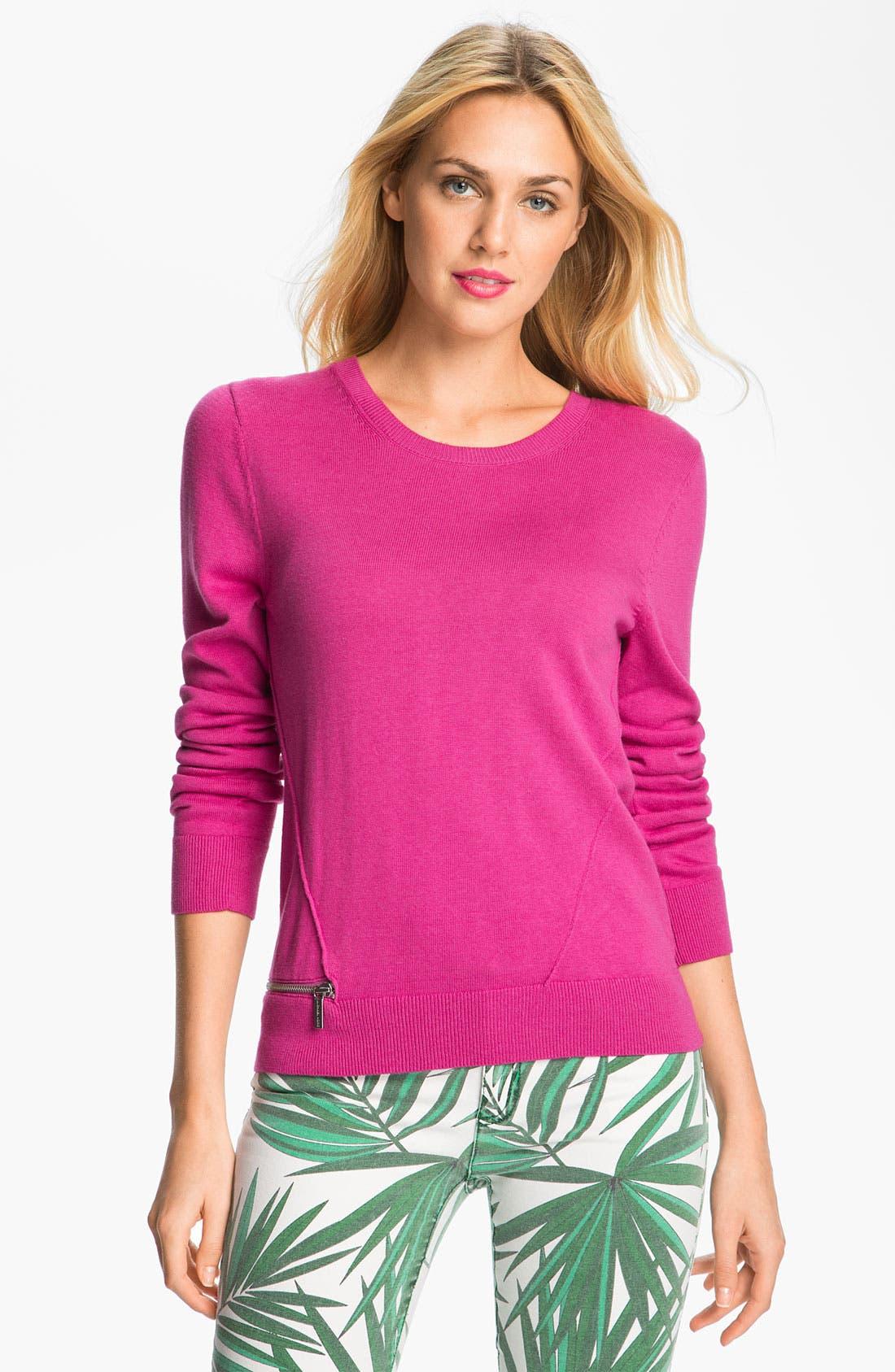 Alternate Image 1 Selected - MICHAEL Michael Kors Crewneck Sweater (Petite)