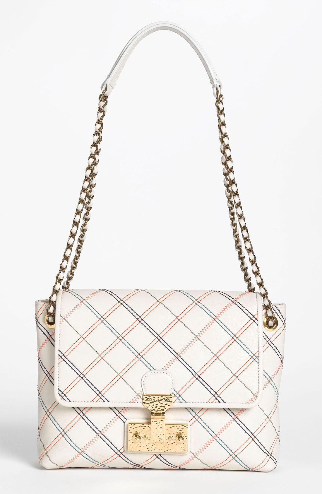 Main Image - MARC JACOBS 'Multistitch Single - Large' Leather Shoulder Bag
