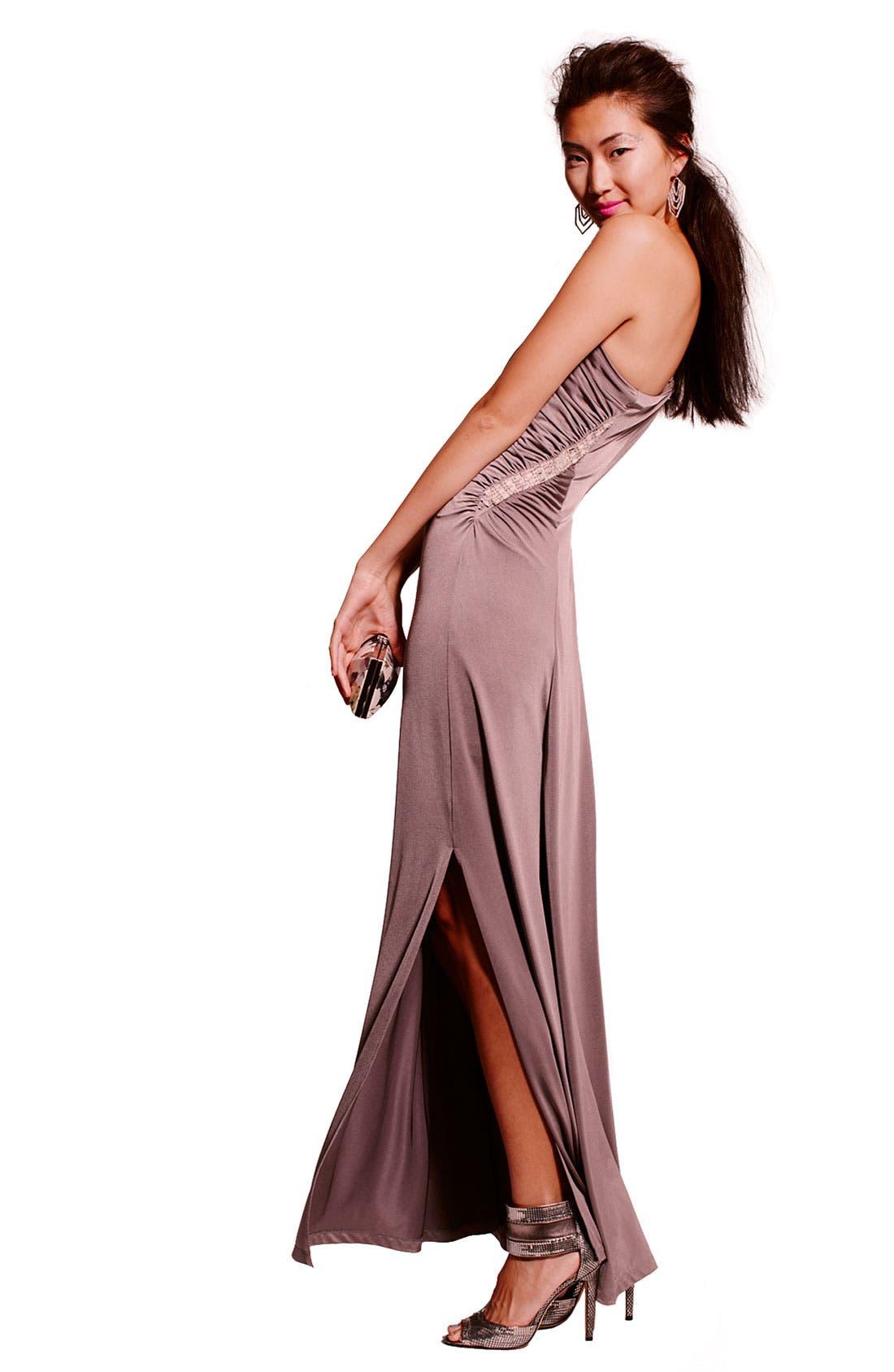 Alternate Image 4  - Calvin Klein Embellished One Shoulder Gown
