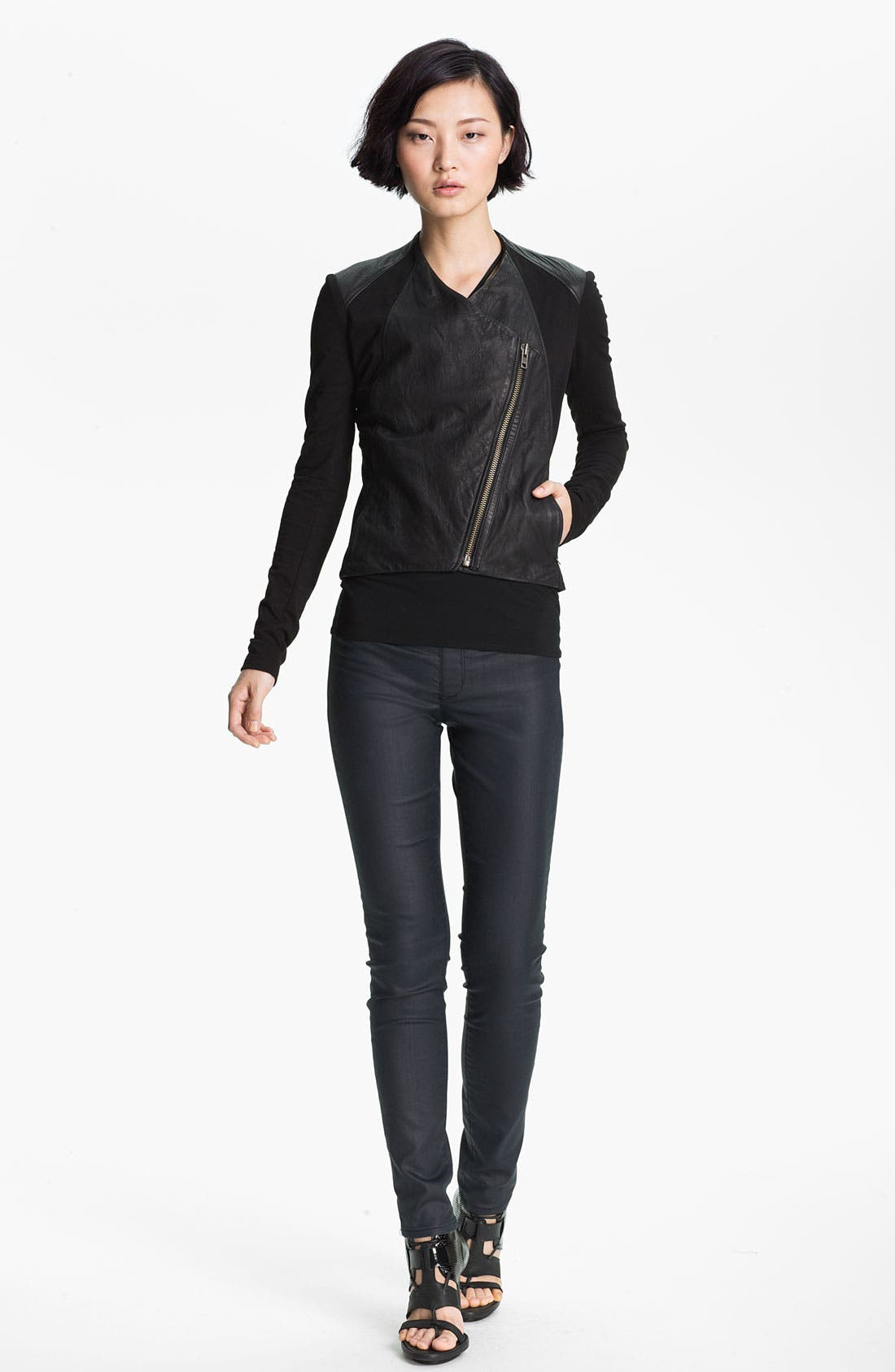 Alternate Image 3  - HELMUT Helmut Lang Washed Leather Jacket