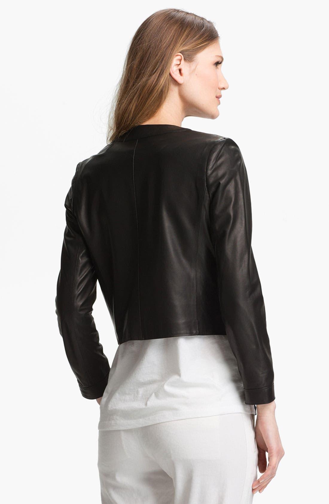 Alternate Image 3  - Vince Snap Front Leather Jacket