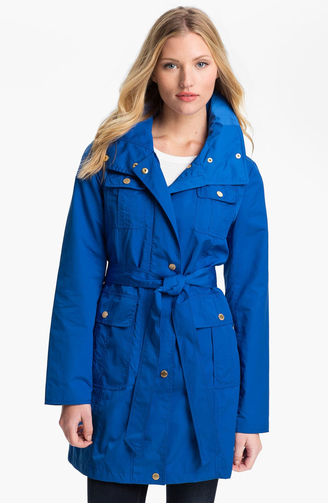 Main Image - Ellen Tracy Fly Front Trench Coat