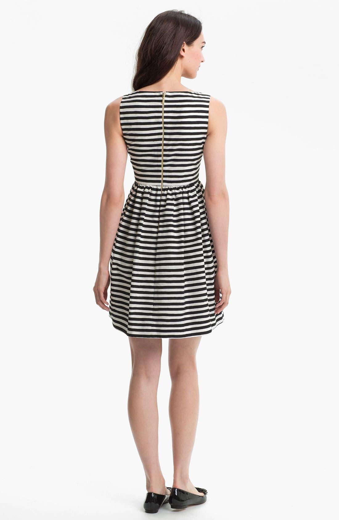 Alternate Image 2  - kate spade new york 'vivien' stripe fit & flare dress