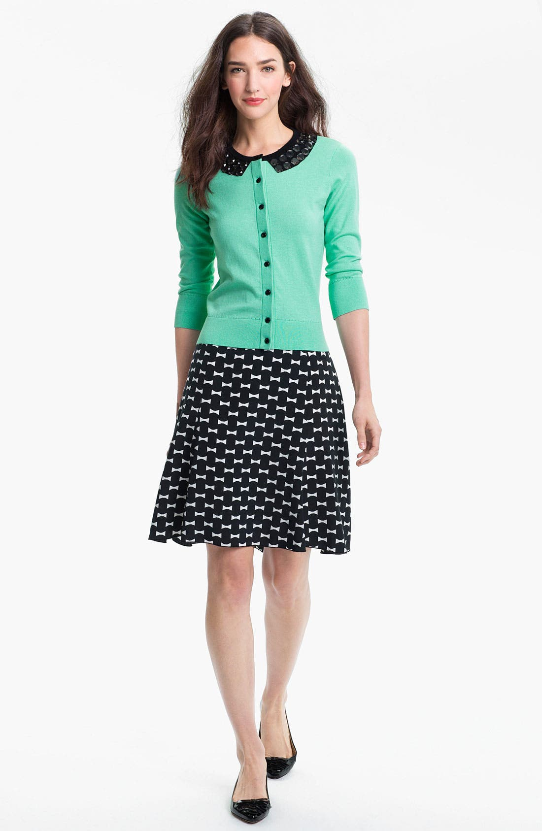 Alternate Image 5  - kate spade new york 'flirt' silk blend skirt