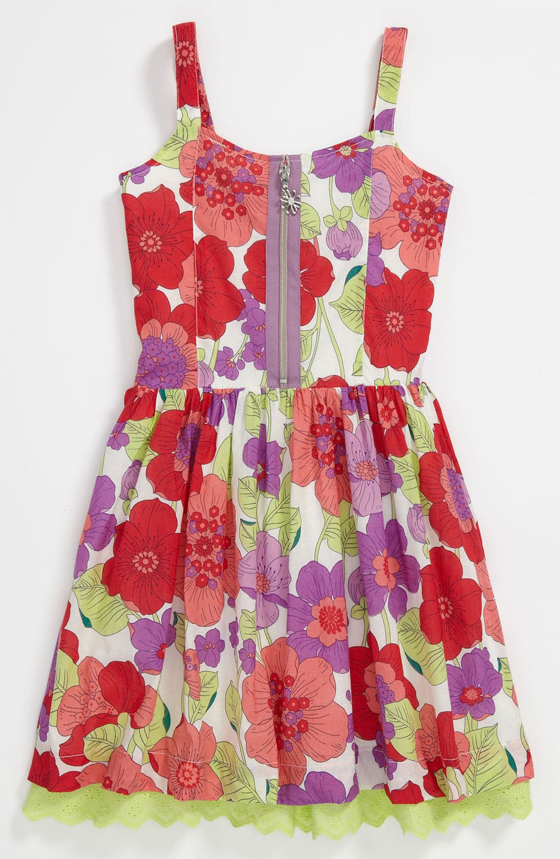 Alternate Image 1 Selected - Pumpkin Patch Floral Dress (Little Girls & Big Girls)