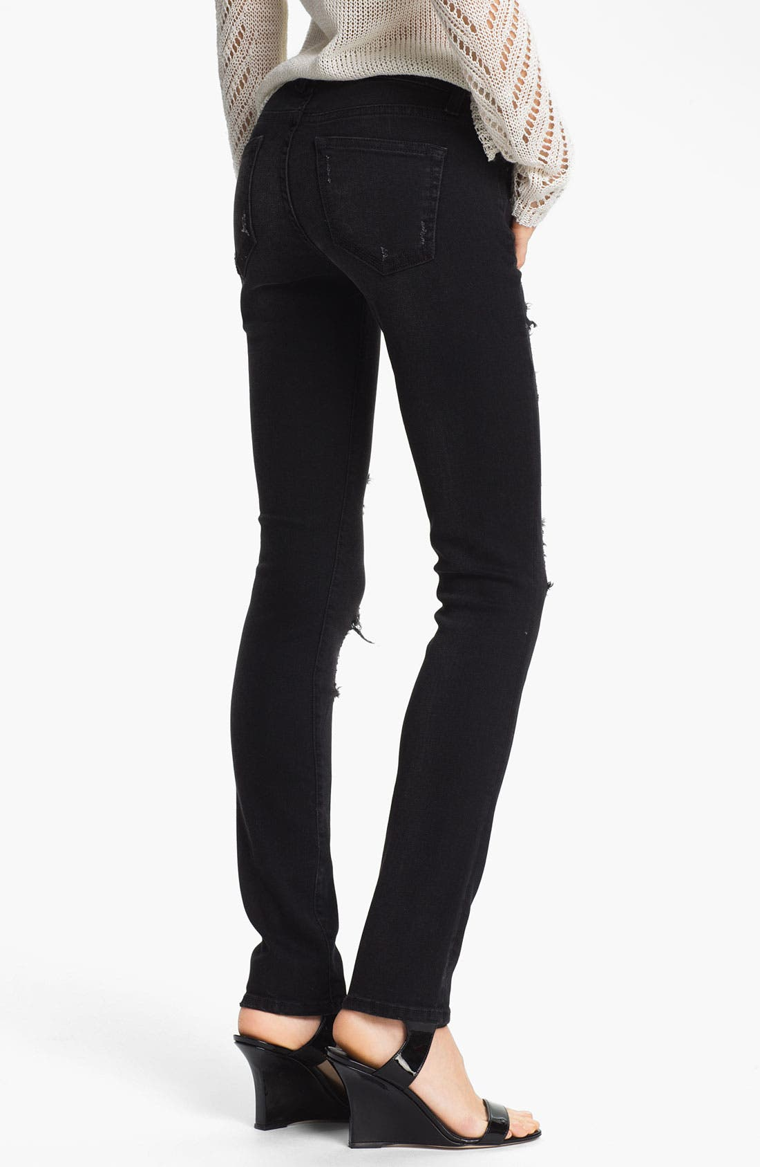 Alternate Image 2  - TEXTILE Elizabeth and James 'Debbie' Waxed Skinny Stretch Jeans