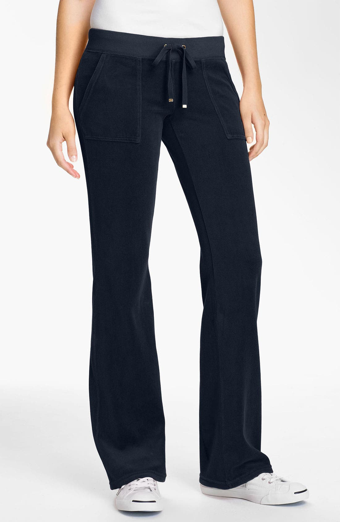 Main Image - Juicy Couture Velour Pocket Pants (Online Only)