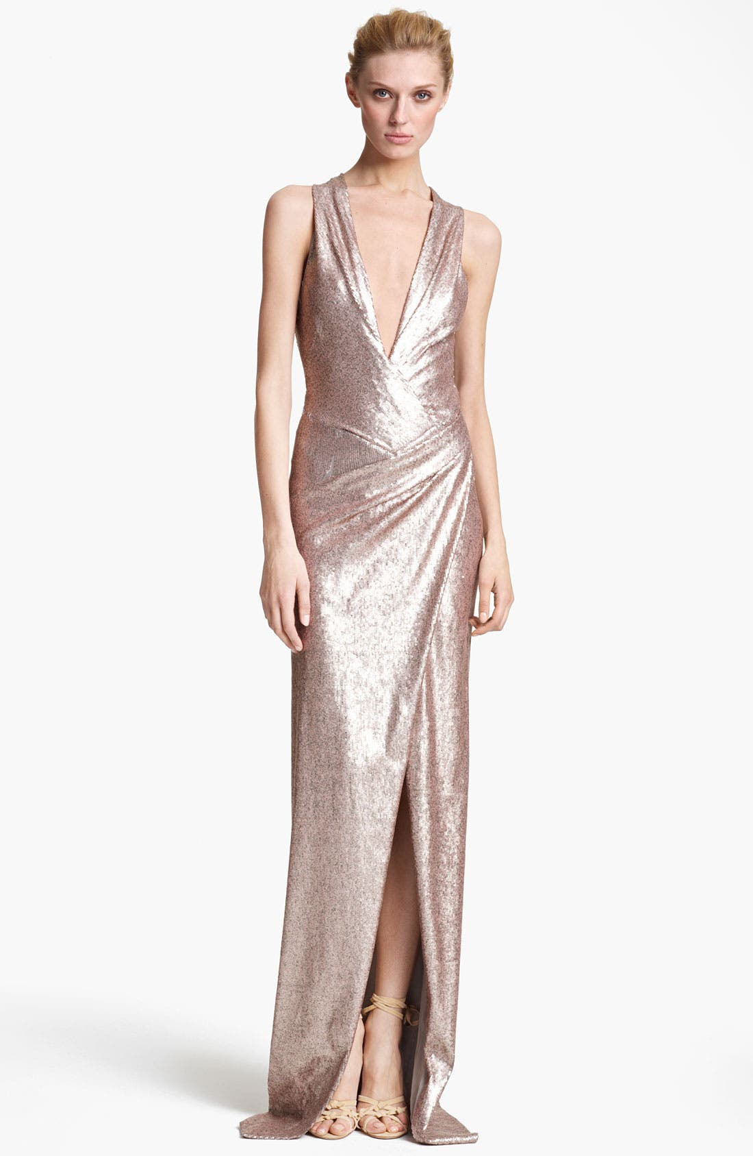 Main Image - Donna Karan Collection Sequin Gown