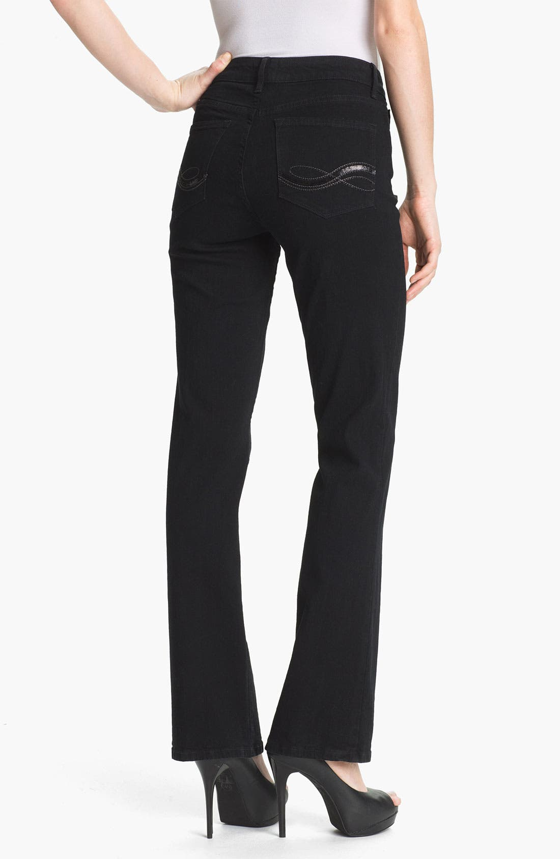 Alternate Image 2  - NYDJ 'Barbara' Embellished Bootcut Stretch Jeans