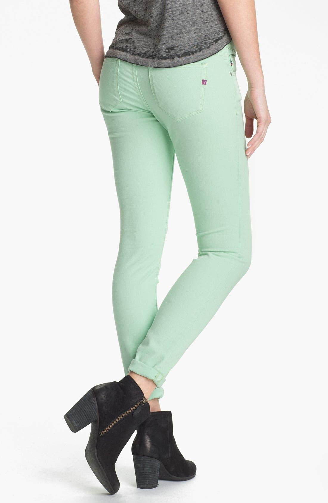 Alternate Image 1 Selected - Vigoss Colored Skinny Jeans (Juniors)