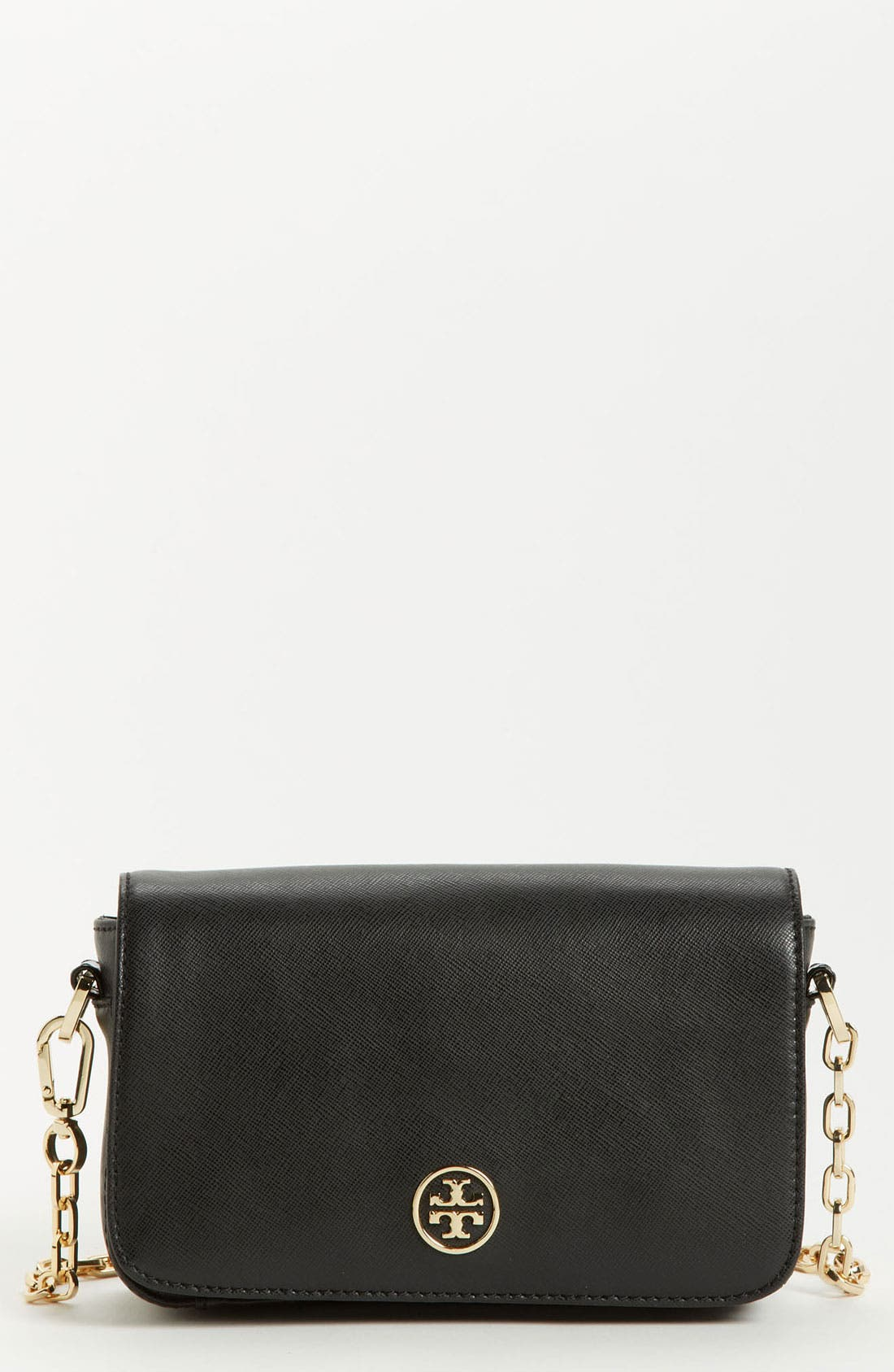 Main Image - Tory Burch 'Robinson - Mini' Saffiano Leather Crossbody Bag