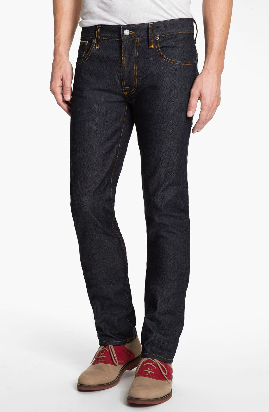 Alternate Image 2  - Nudie 'Thin Finn' Slim Skinny Leg Jeans (Organic Dry Heavy Selvedge)