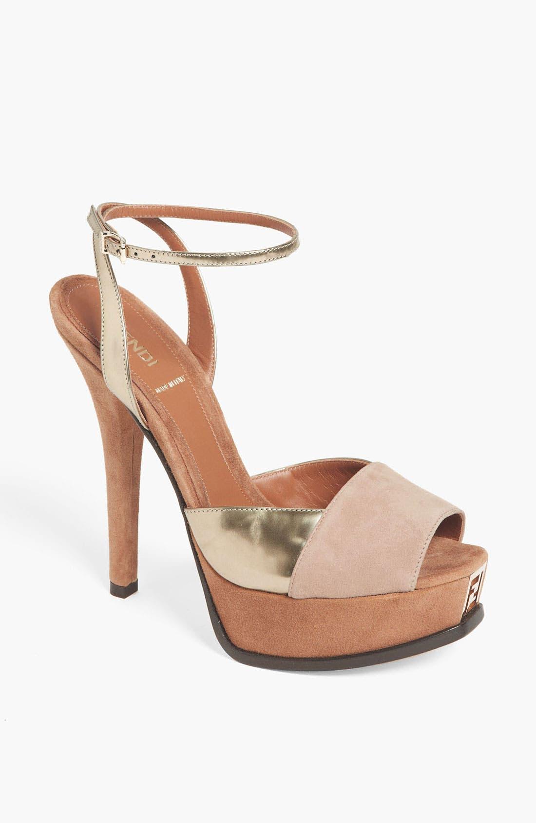 Alternate Image 1 Selected - Fendi 'Fendista' Sandal