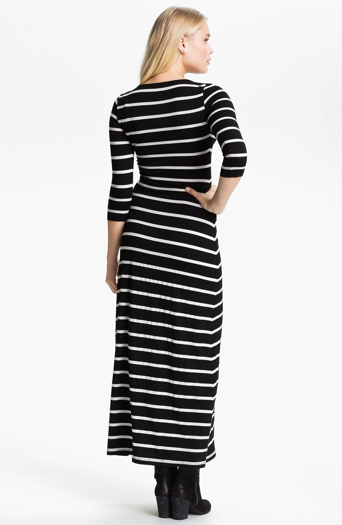 Alternate Image 2  - Soprano Stripe Maxi Dress (Juniors)