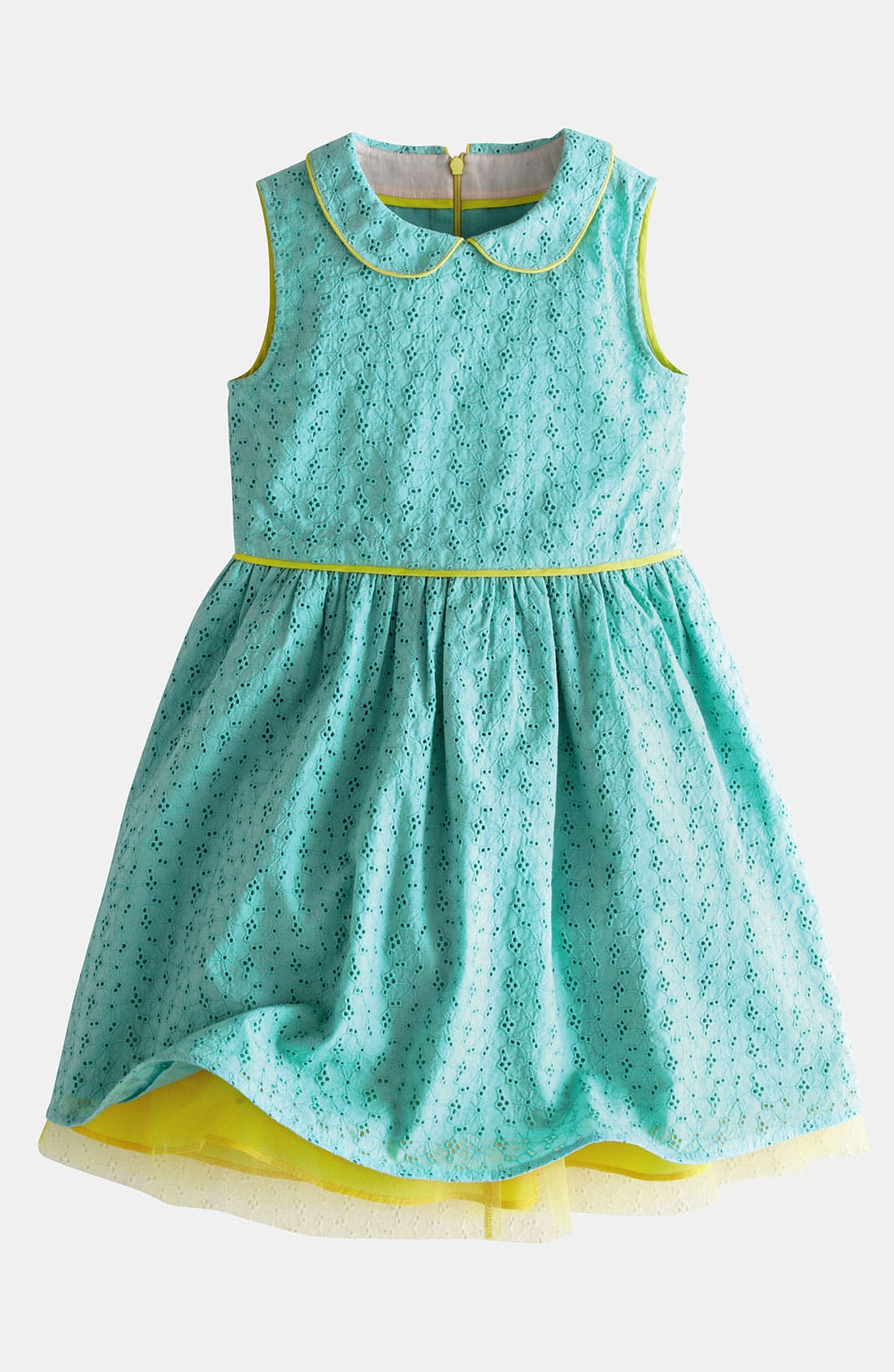 Main Image - Mini Boden Eyelet Dress (Little Girls & Big Girls)