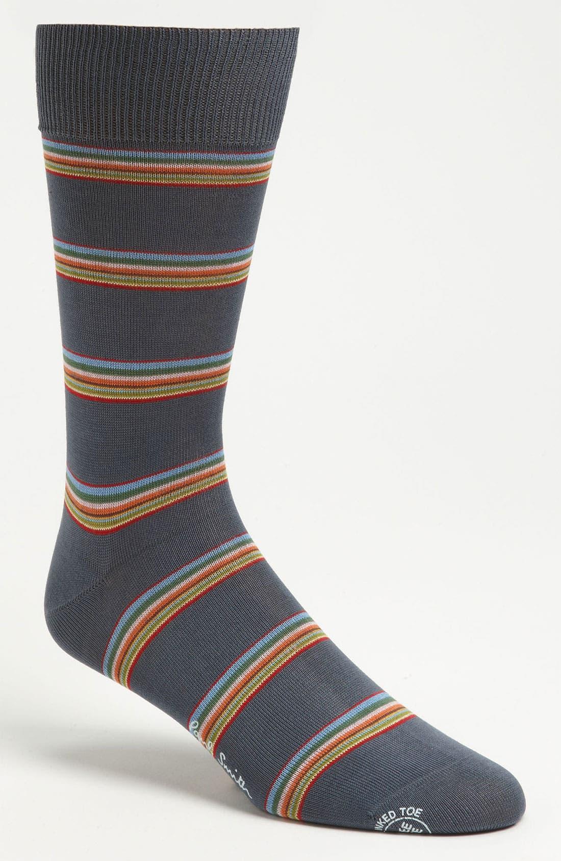 Main Image - Paul Smith Accessories Multi Block Stripe Socks