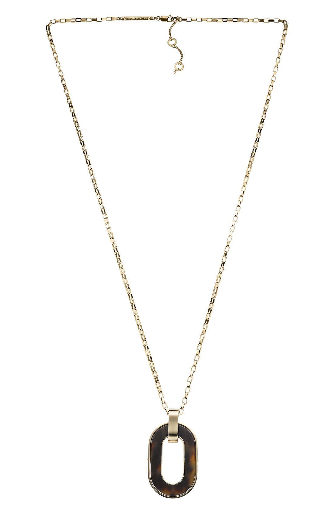 Alternate Image 1 Selected - Michael Kors 'Jet Set' Long Pendant Necklace