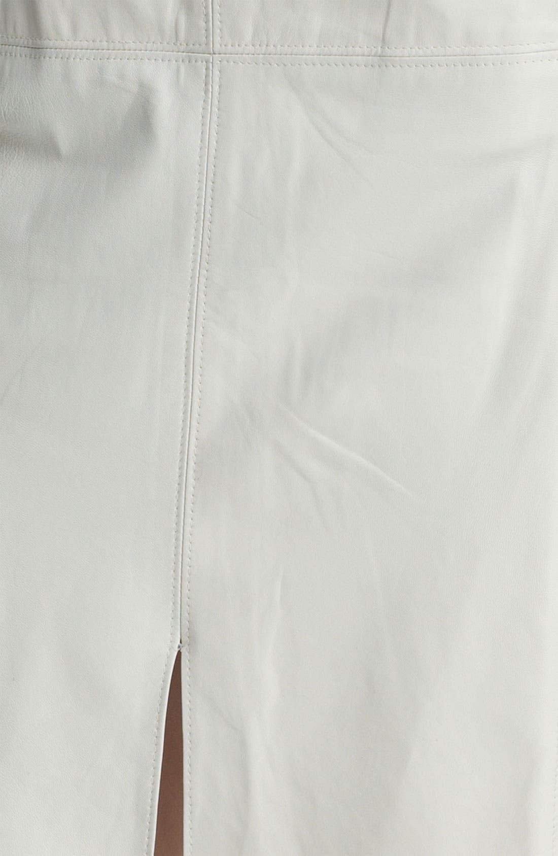Alternate Image 5  - Halston Heritage Leather Panel Pencil Skirt