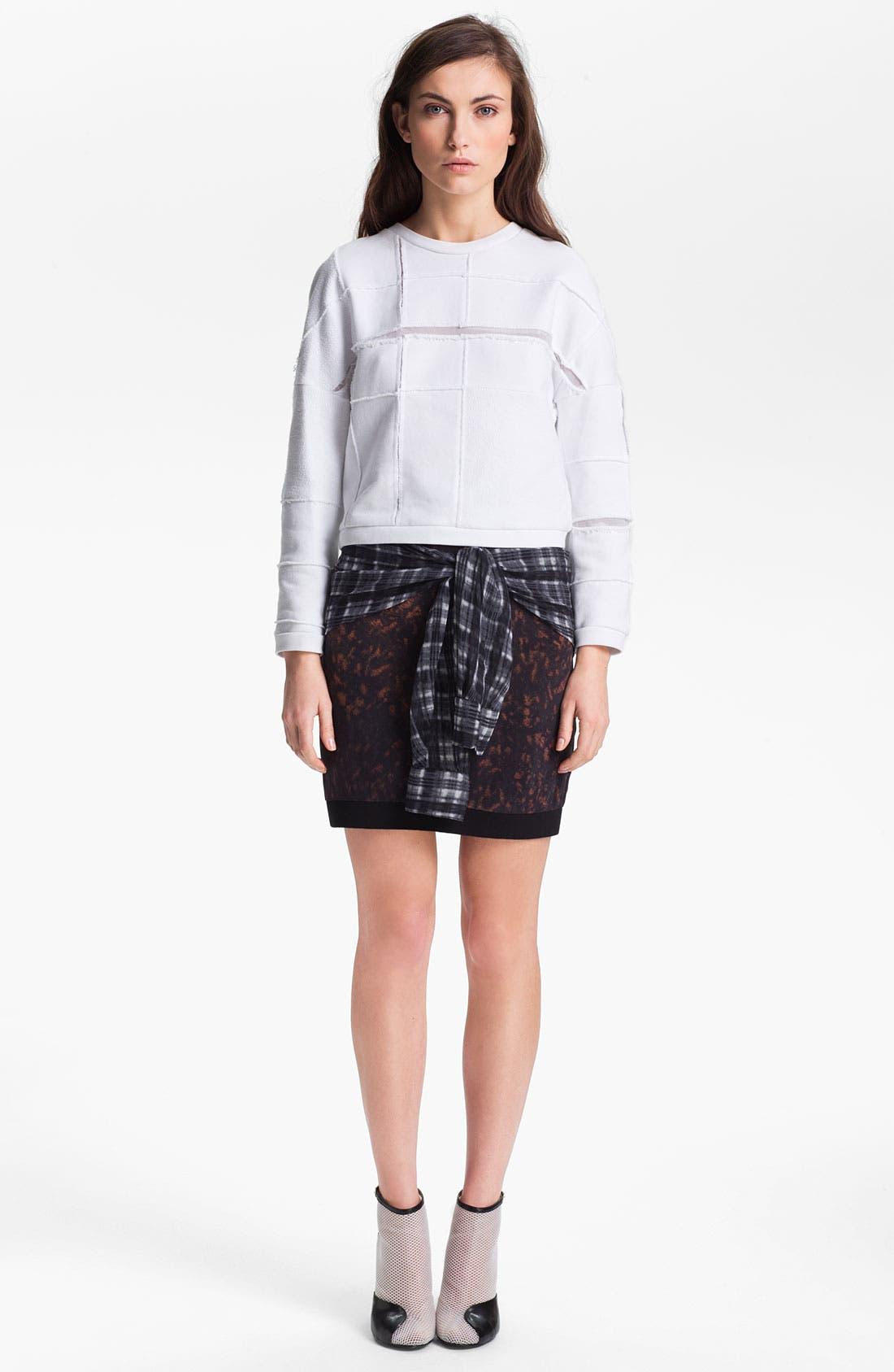 Alternate Image 1 Selected - 3.1 Phillip Lim 'Cut Up' Plaid Sweatshirt