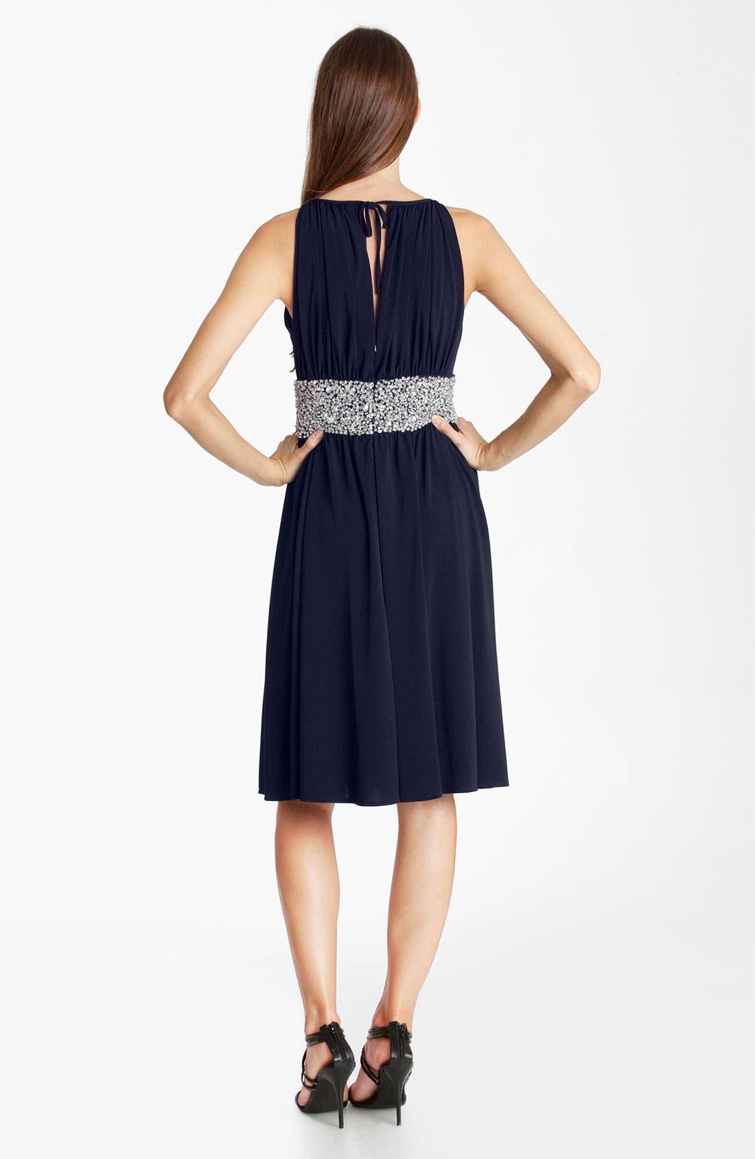 Alternate Image 2  - JS Boutique Embellished Ruched Jersey Dress