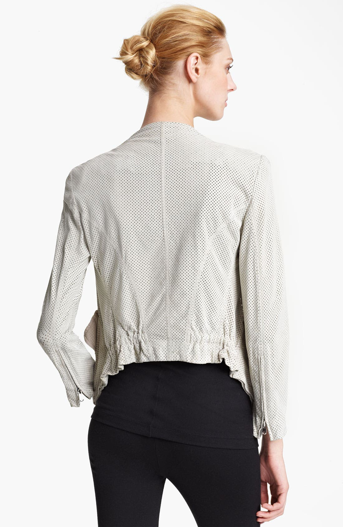 Alternate Image 2  - Donna Karan Collection Perforated Suede Jacket