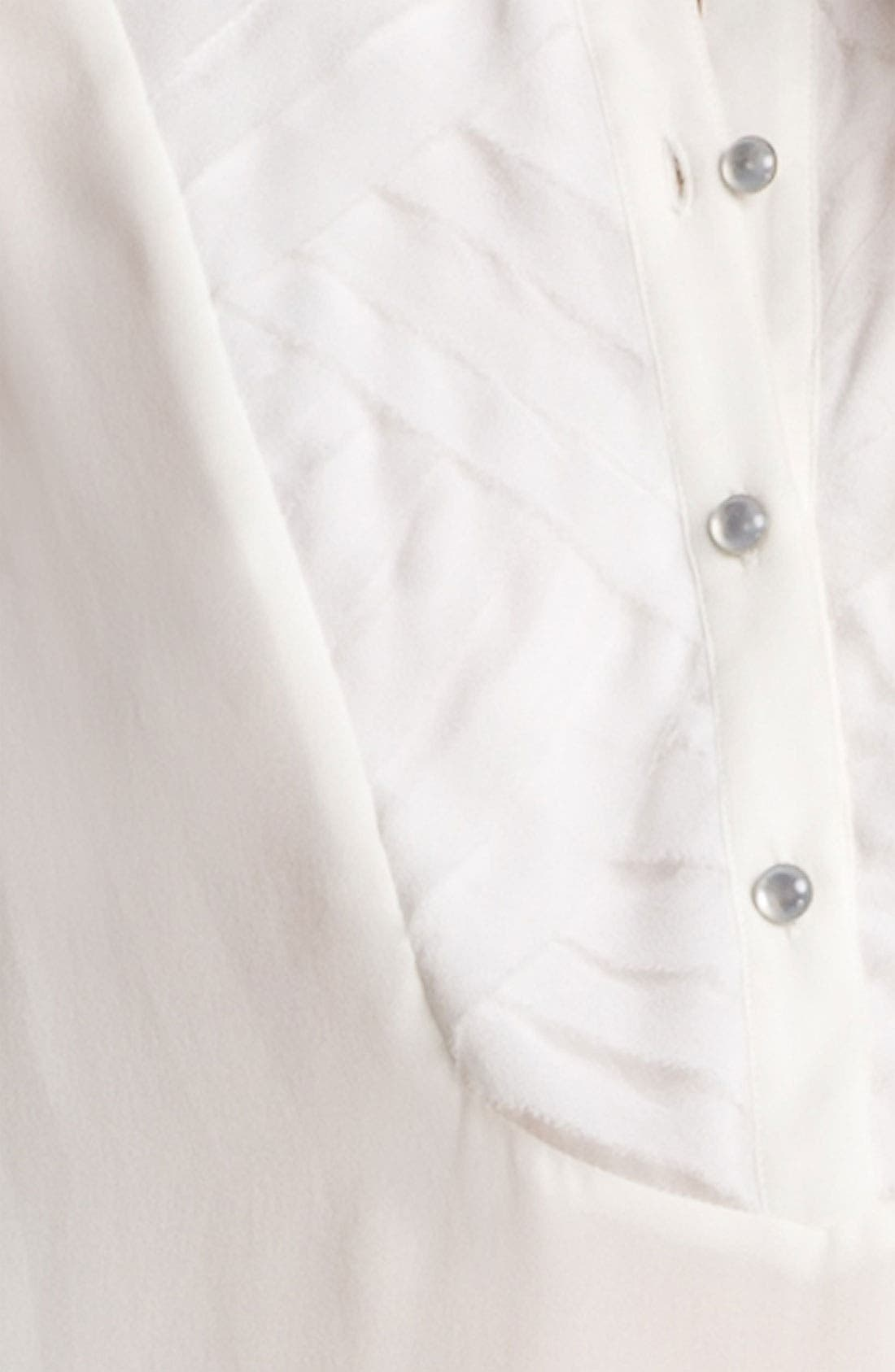 Alternate Image 7  - Haute Hippie Pleated Silk Blouse