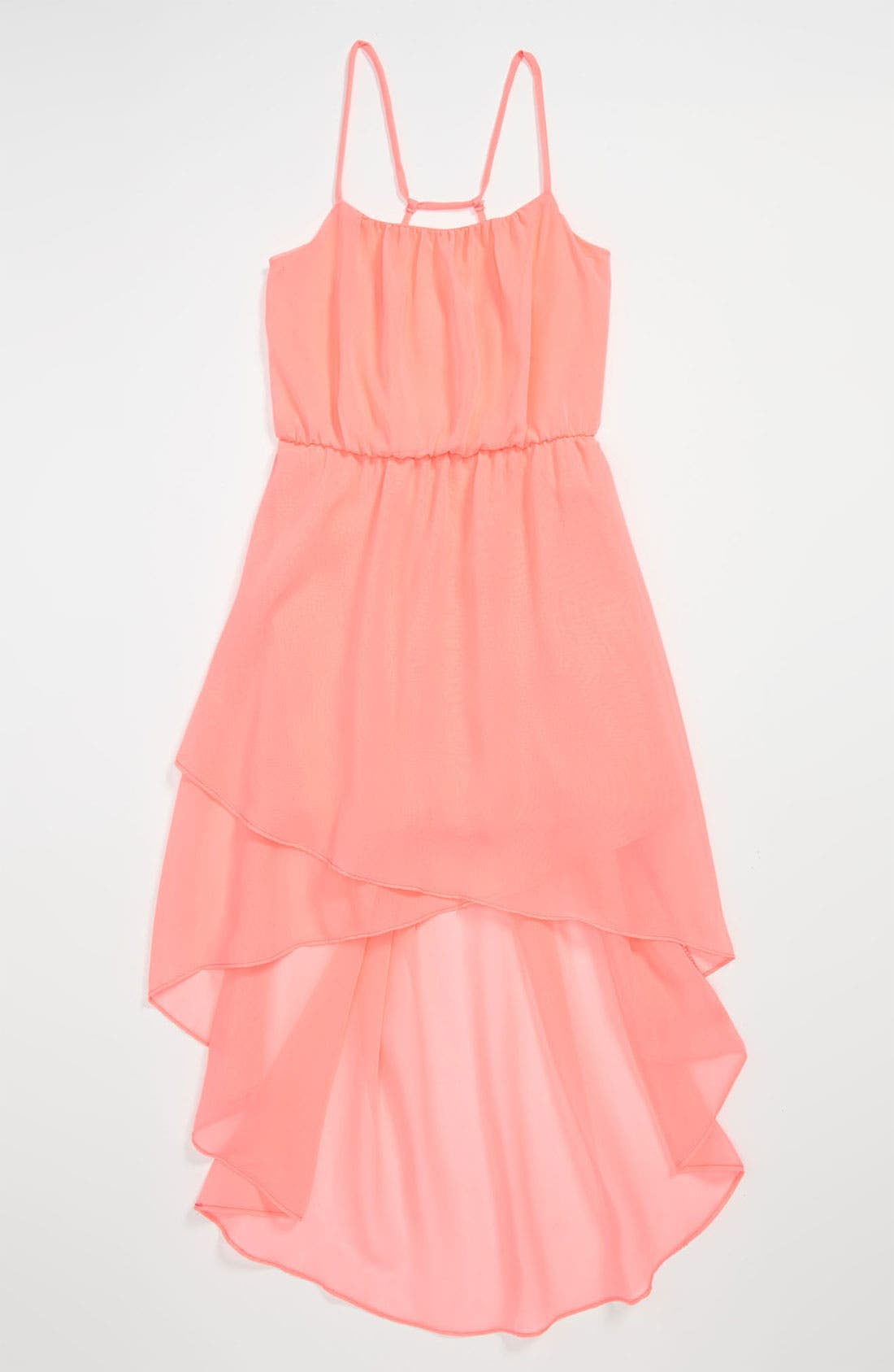 Alternate Image 1 Selected - Kiddo Spaghetti Strap High/Low Dress (Big Girls)