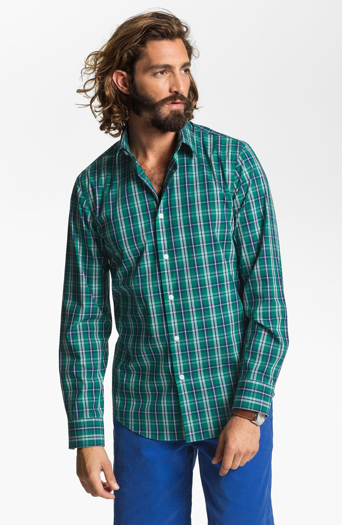 Alternate Image 1 Selected - Calibrate Non Iron Regular Fit Sport Shirt
