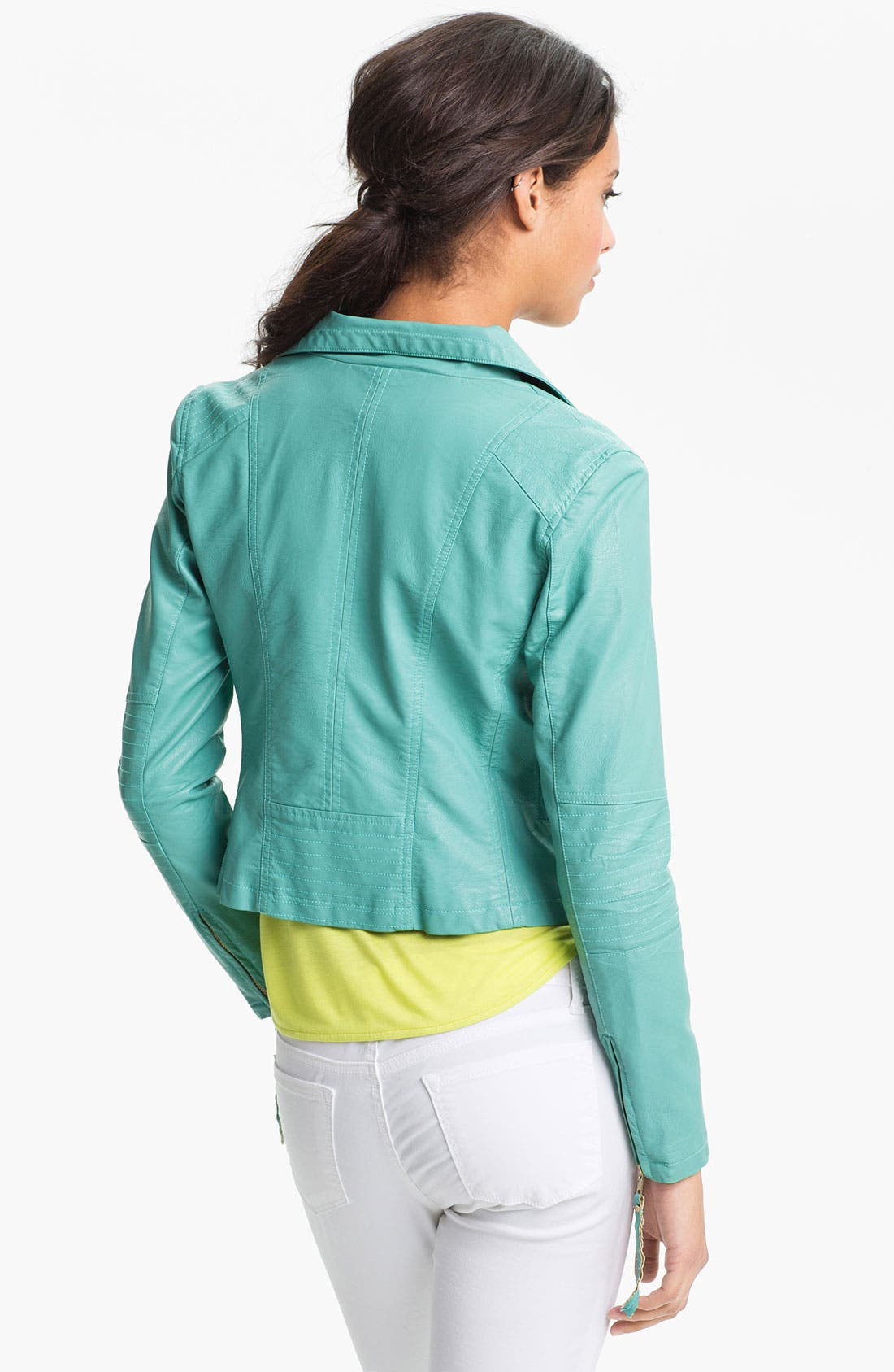 Alternate Image 2  - KUT from the Kloth 'Elana' Faux Leather Scuba Jacket