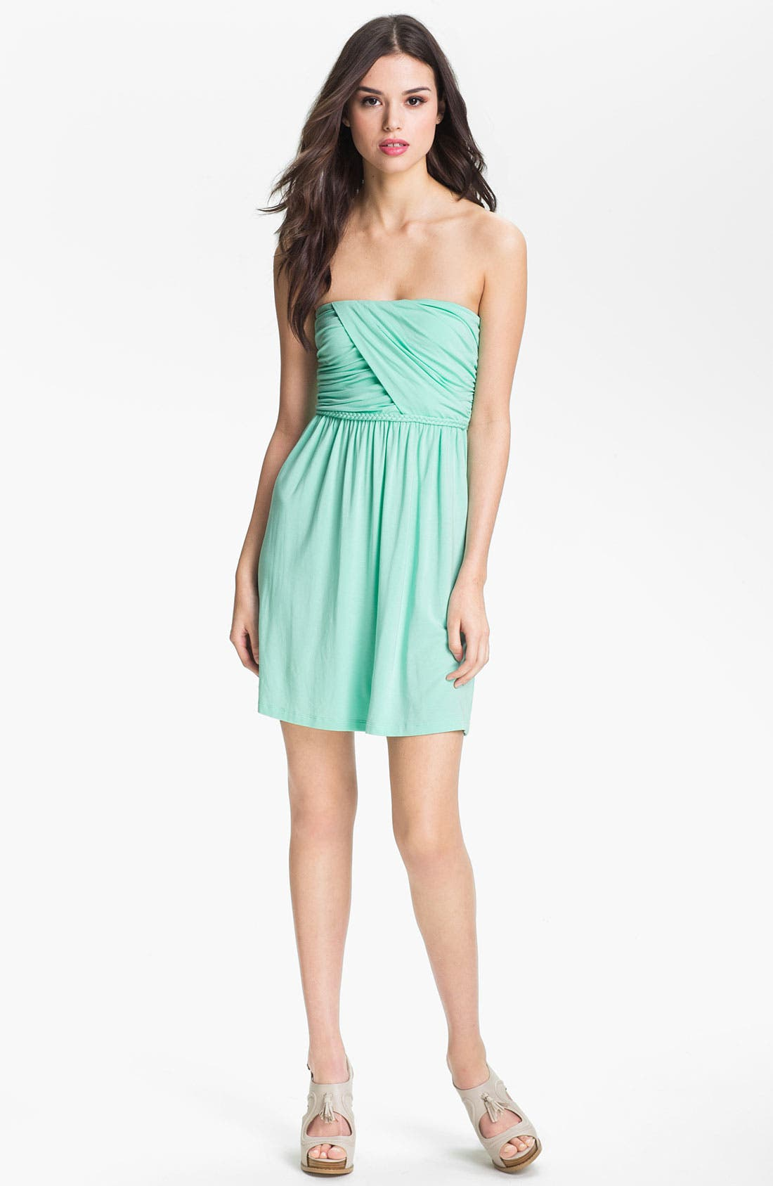 Alternate Image 1 Selected - Tart 'Faith' Strapless Ruched Jersey Dress